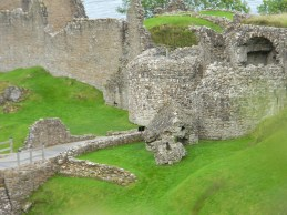 Foreground of Urquhart Castle. Image by C. L. Tangenberg