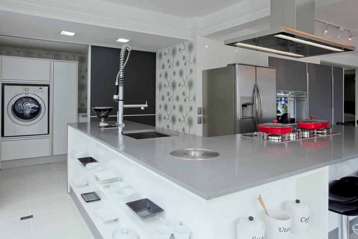 Plan de travail cuisine Quartz Silestone Gris Expo Encimera
