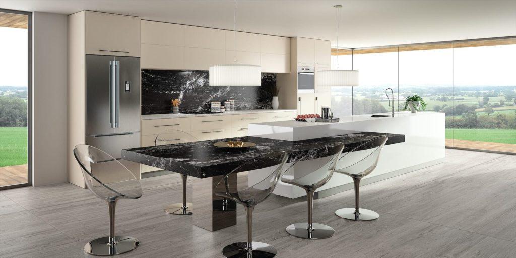 Plan de travail cuisine Granits Sensa Black Beauty