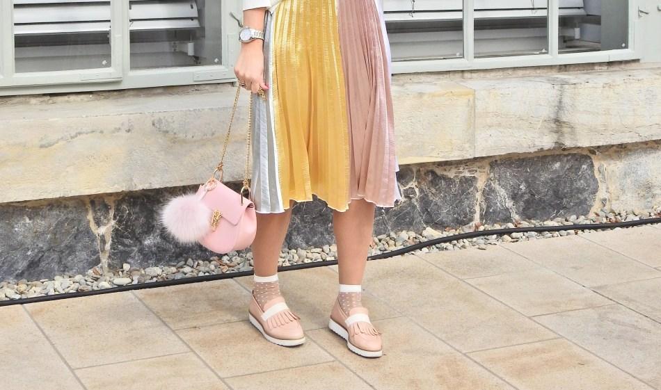 Plisse Skirt Plissee Rock Spring Look Blogger Fashion Socks