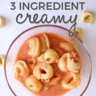 3 Ingredient Creamy Tortellini Soup