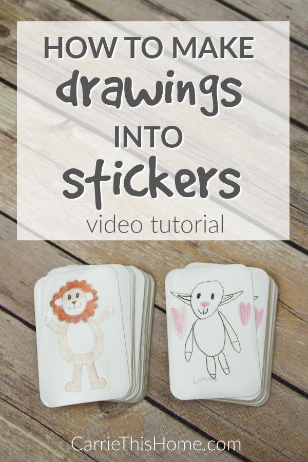 How To Make Drawings Into Stickers Easy Video Tutorial