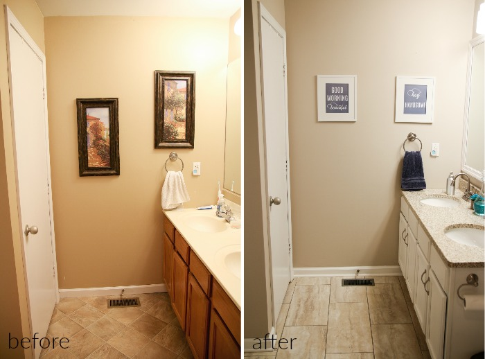 budget modern farmhouse master bathroom makeover