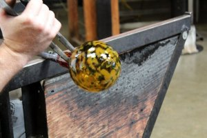 Glass blowing at Glass Forge