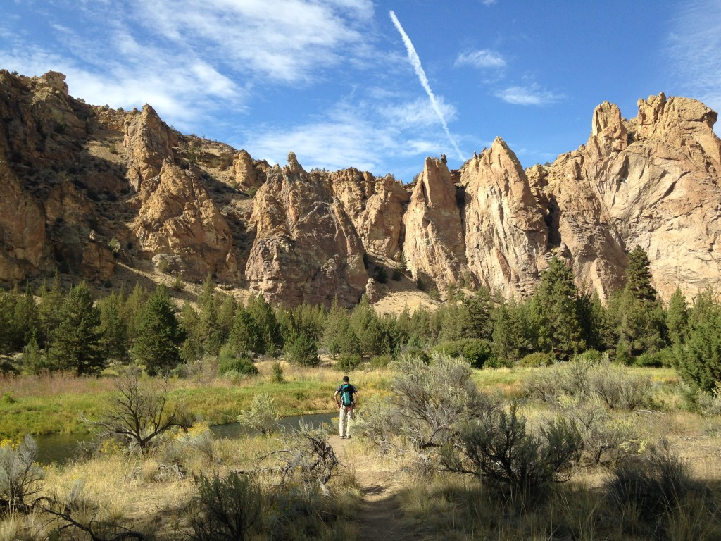 Hiking at Smith Rock State Park