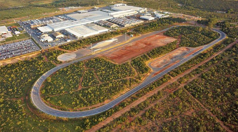 Campo de provas da Iveco, no complexo industrial da Iveco