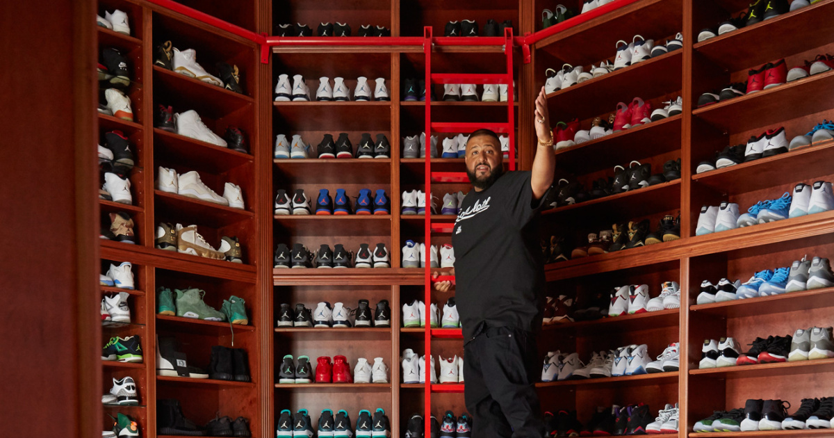 868ed42f9e8d DJ Khaled s Rare Air Jordans (And 19 Other Favorite Celebrity Sneakers)
