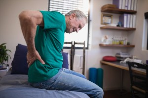 Older man with hip pain