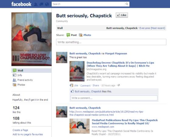 How Chapstick responded to criticism on Facebook