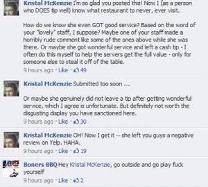 BonersBBQ Facebook comments