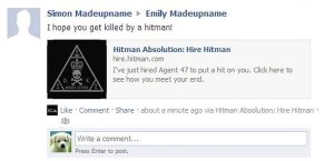 Hitman Facebook Post