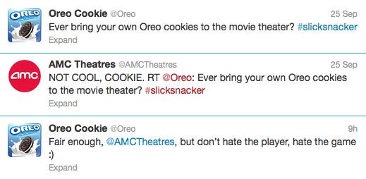 Oreo v AMC Tweets