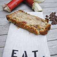 Rhubarb Chocolate Chip Banana Bread