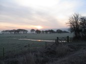 Frosty dawn over Flixton Carr