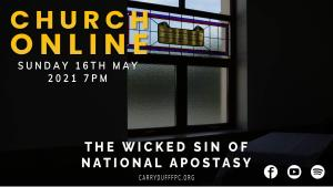 The wicked sin of national apostasy