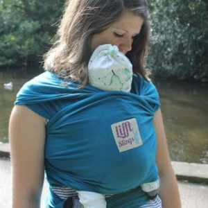 Lifft Black Stretchy Wrap Carrier Sling Teal