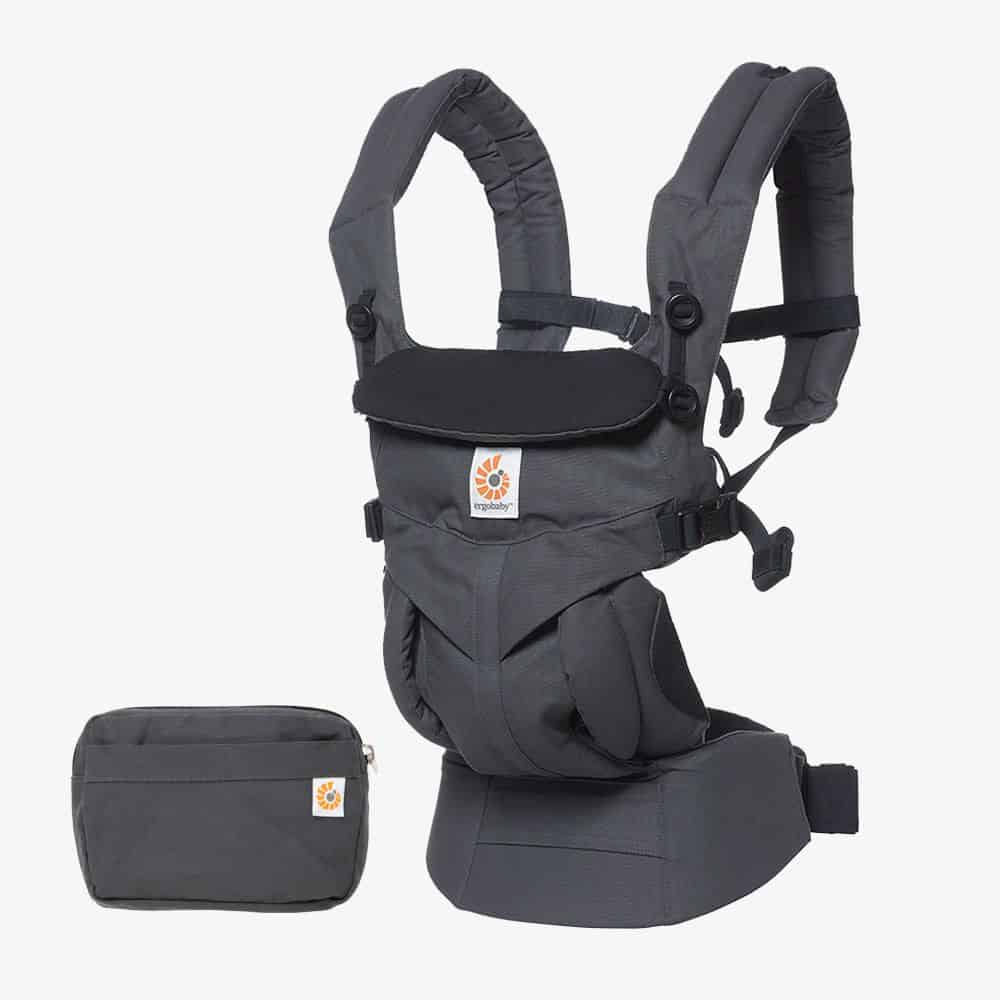 Ergobaby Omni 360 forward facing baby carrier from newborn Charchoal