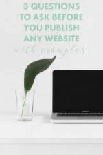 Three Questions to Ask Before You Publish Any Website