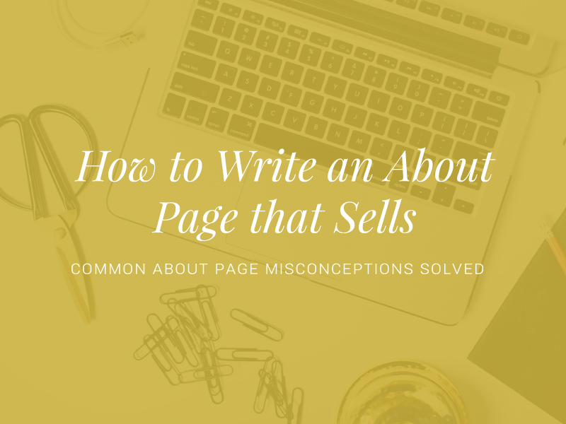 How to Write an About Page that Sells