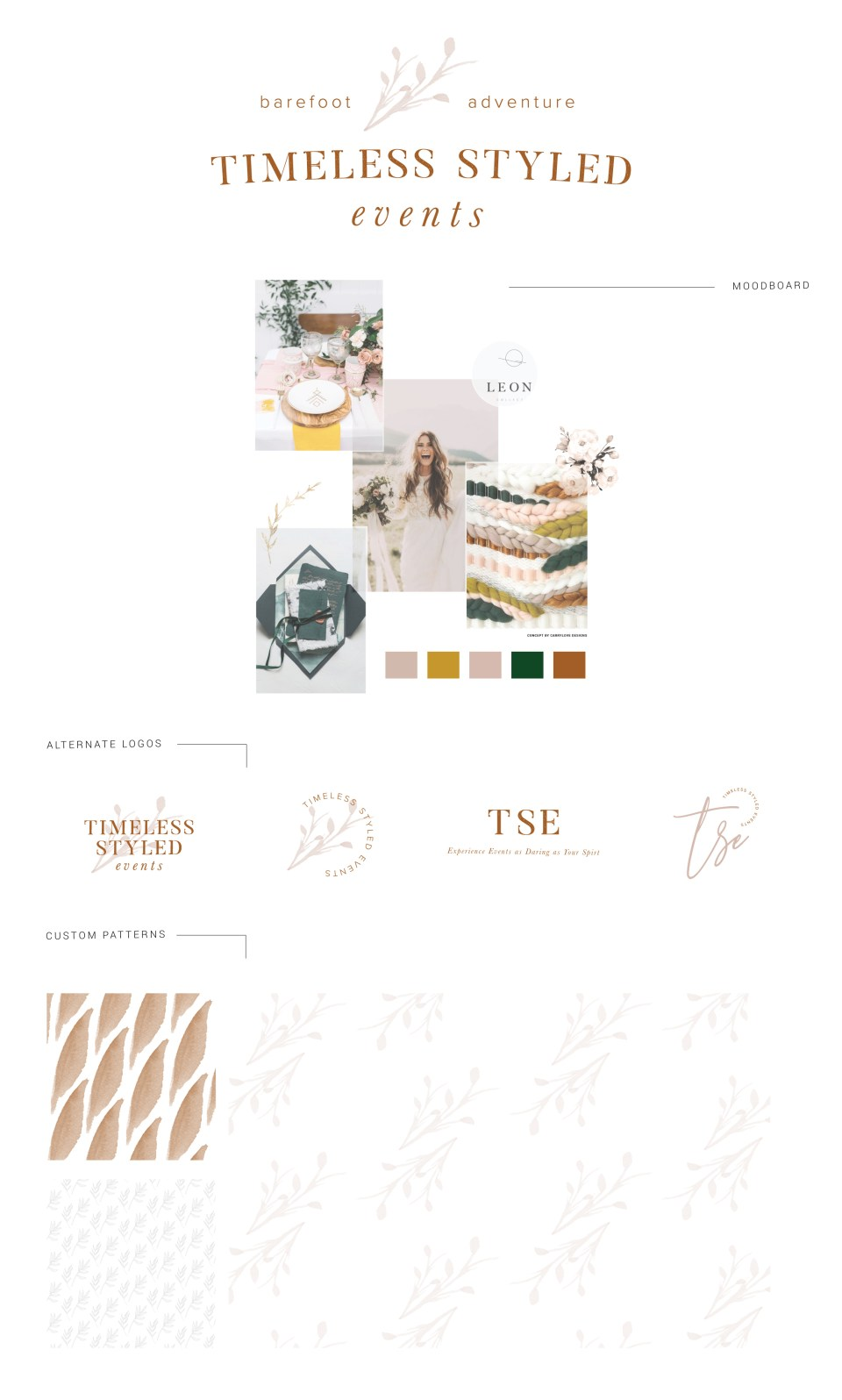 Creative Process: Timeless Styled Events Brand and Website Launch Brand Board