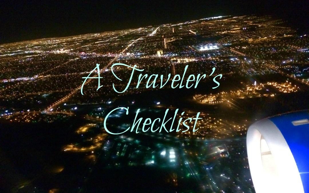 A Traveler's Checklist