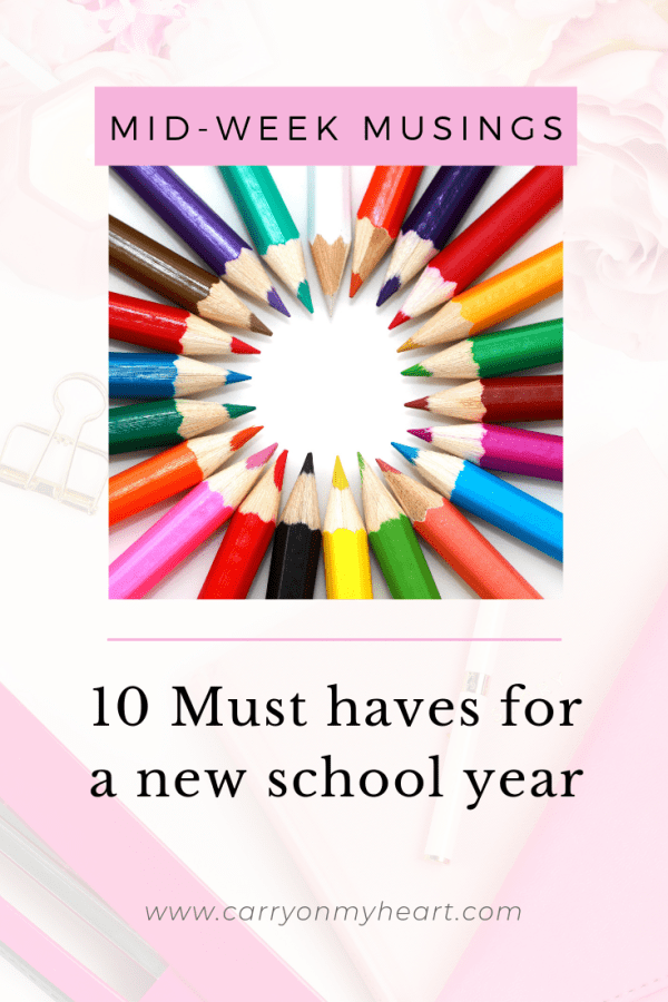 10 Must-haves for a new school year