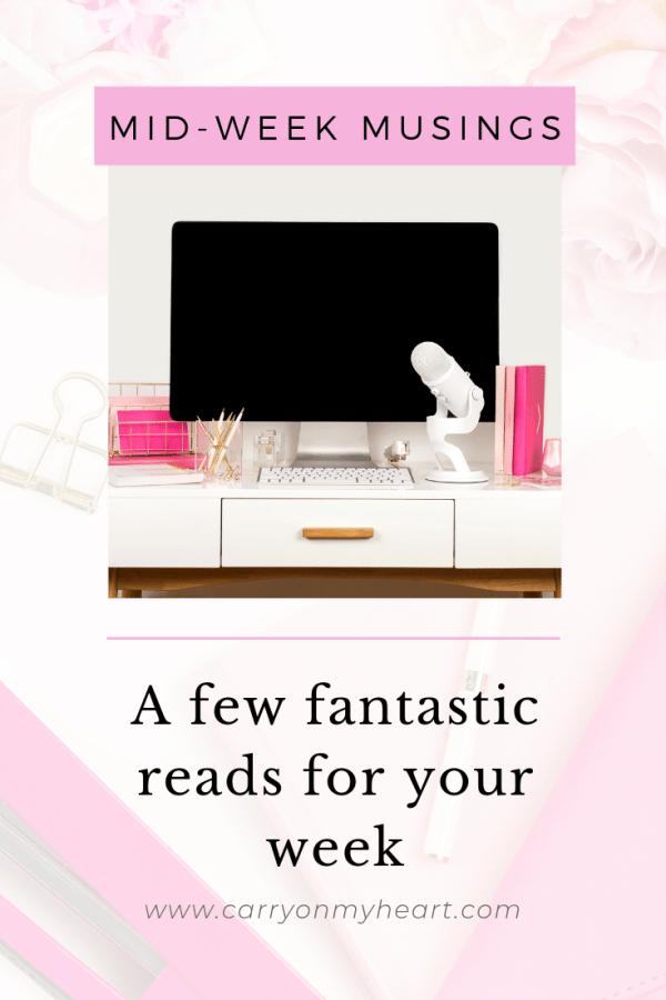 Mid-week musing: Some favorite reads this week