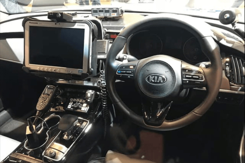 cop - Kia Stinger Police Vehicle 12 - Cop cars stripped for hi-tech action