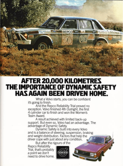 repco - Repco volvo ad - 40 years and 337 gates later Peter McKay relives Repco madness