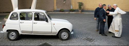 putin - pope francis renault 4 - Room in back for Putin's hard-working proletariat?