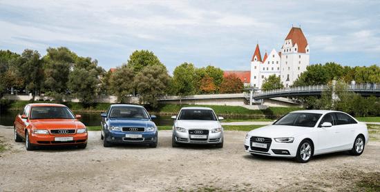 Audi_A4-generations-auto-sales-statistics-Europe