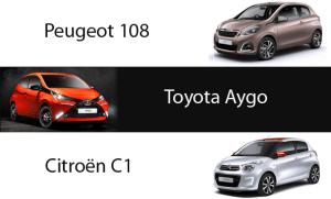 Citroen-C1-Peugeot-108-Toyota-Aygo