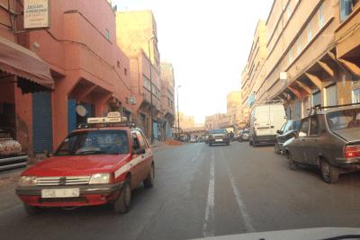 Taxi_stand-Agadir-Morocco-Peugeot_205-Mercedes_240d