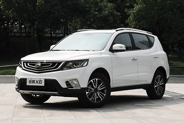 Geely Vision X6 China Auto Sales Figures