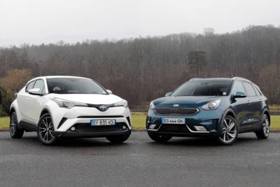 2016-small-crossover-segment-europe-Toyota_CHR-Kia_Niro