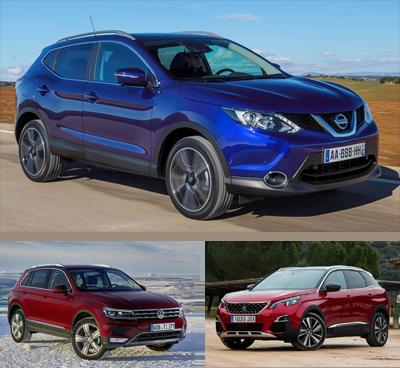 Compact_SUV-segment-European-sales-2017-Nissan_Qashqai-Volkswagen_Tiguan-Peugeot_3008