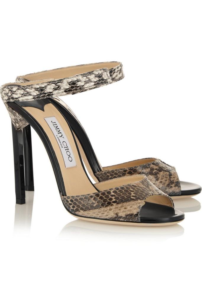 JIMMY CHOO Deckle elaphe sandals