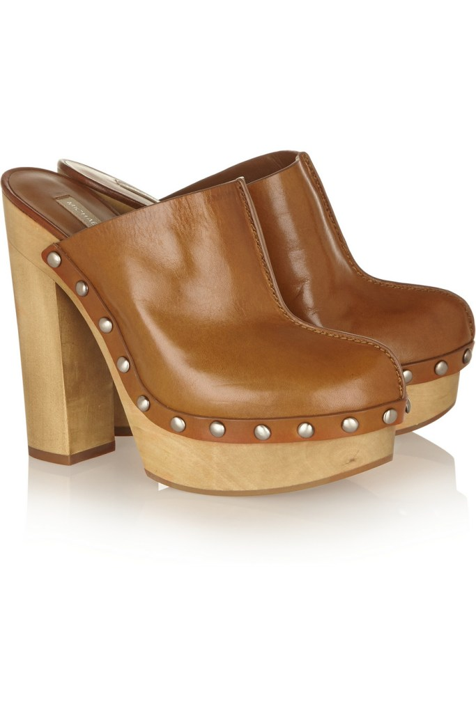 MICHAEL KORS Perri leather platform clogs