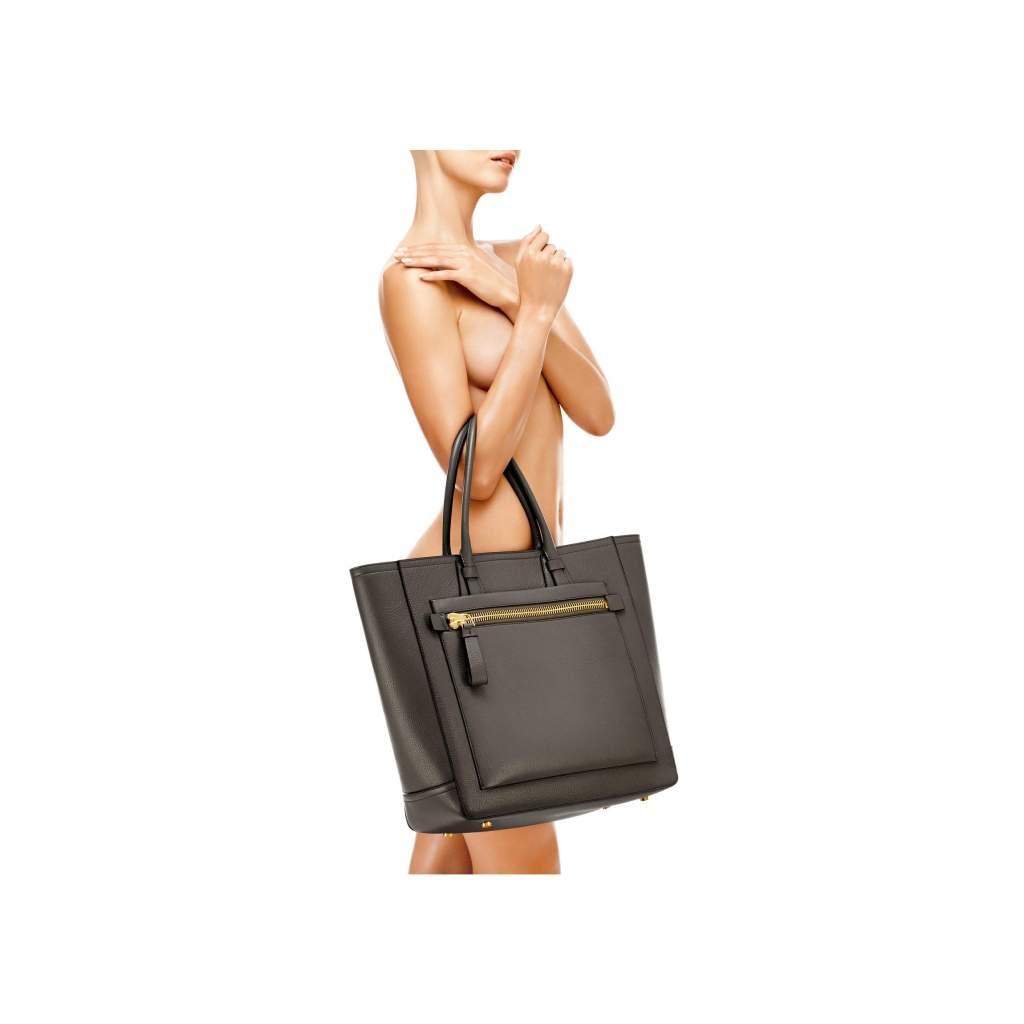 Tom Ford Tote Handbag Graphite