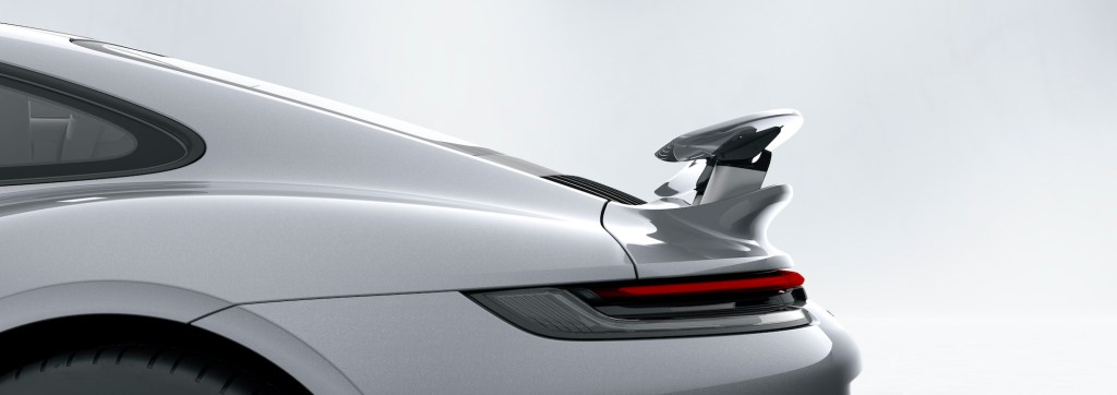 Porsche 911 Turbo S: Porsche Active Aerodynamics (PAA): rear wing