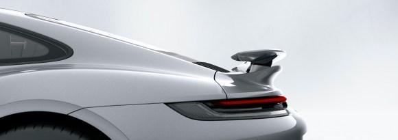 911 Turbo S: Porsche Active Aerodynamics (PAA): rear wing