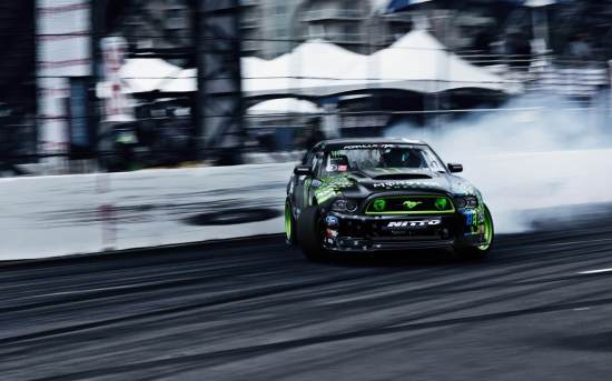 Monster Energy Ford Mustang RTR Drifting