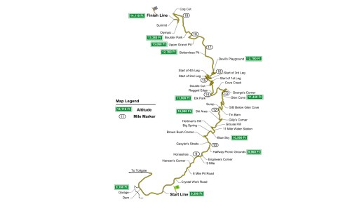 Pikes Peak International Hill Climb Map