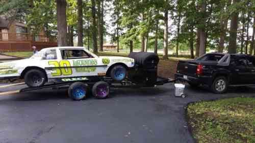 race car trailer with tire rack box