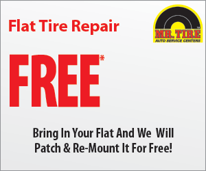 Mr Tire Oil Change >> Mr Tire FREE Flat Tire repair coupon May 2016