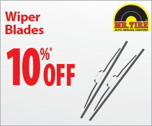 Mr Tire 10% OFF wiper blades coupon May 2016