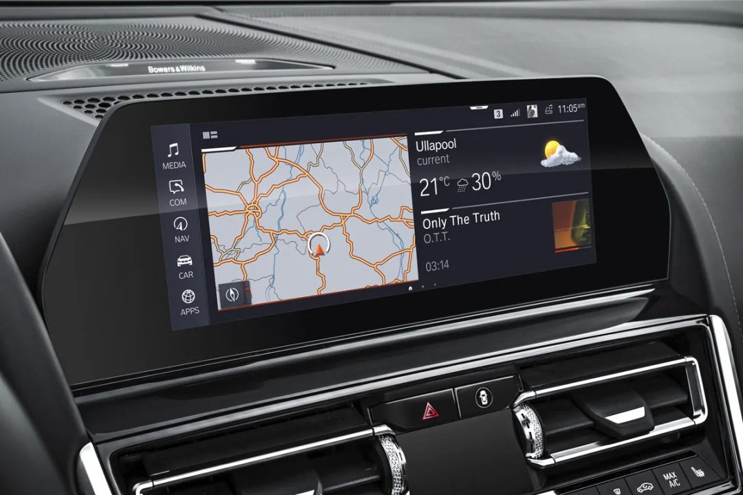 iDrive 7.0 in the BMW 8 Series convertible