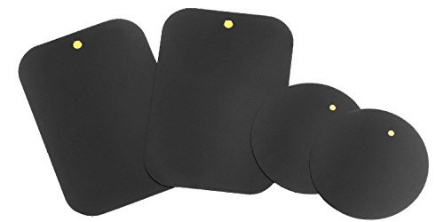 31wPxWV6YBL - Mount Metal Plate with Adhesive for Magnetic Cradle-less Mount -X4 Pack 2 Rectangle and 2 Round (Compatible with Magnetic mounts) 4 Pack