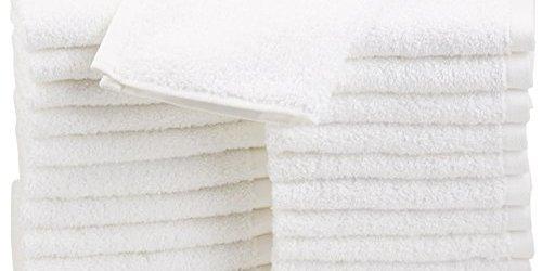 41IX99CZ6WL - AmazonBasics Cotton Washcloths, 24 - Pack