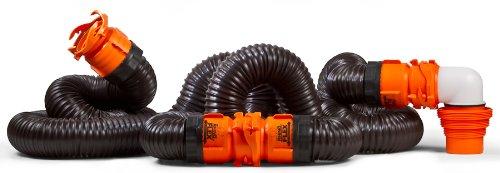 41OE0IcWbwL - Camco 39742 RhinoFLEX 20' RV Sewer Hose Kit with Swivel Fitting